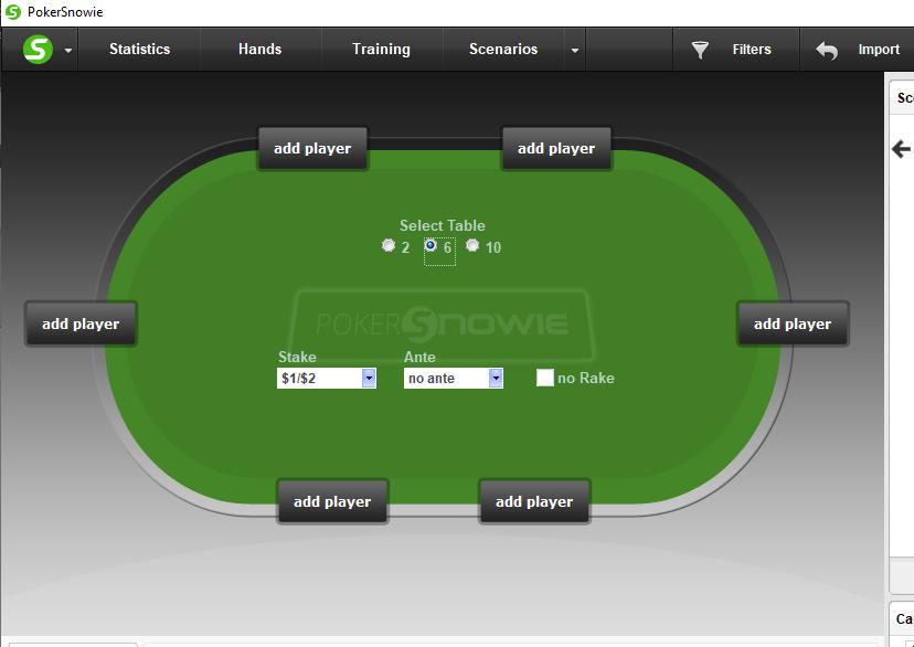 Übersicht über Pokersnowie