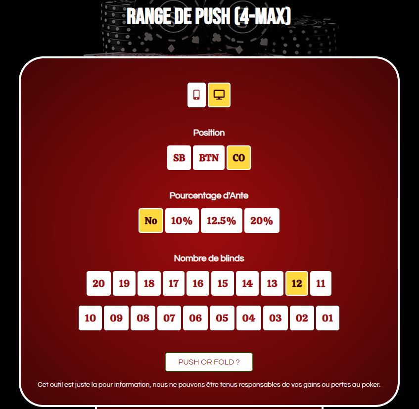 4-max push range calculator