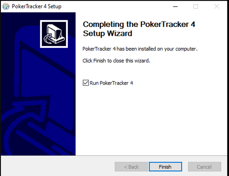 Fin de l'installation de PokerTracker 4