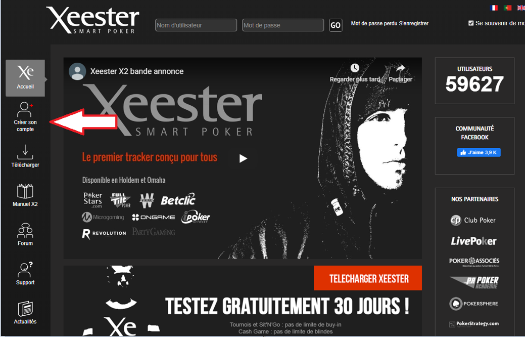 Go to the Xeester site