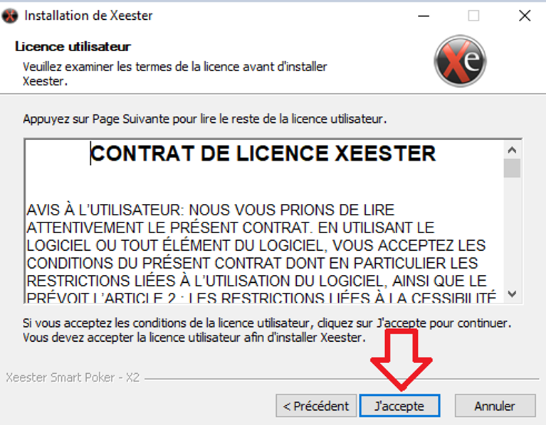 choice of xeester installation folder