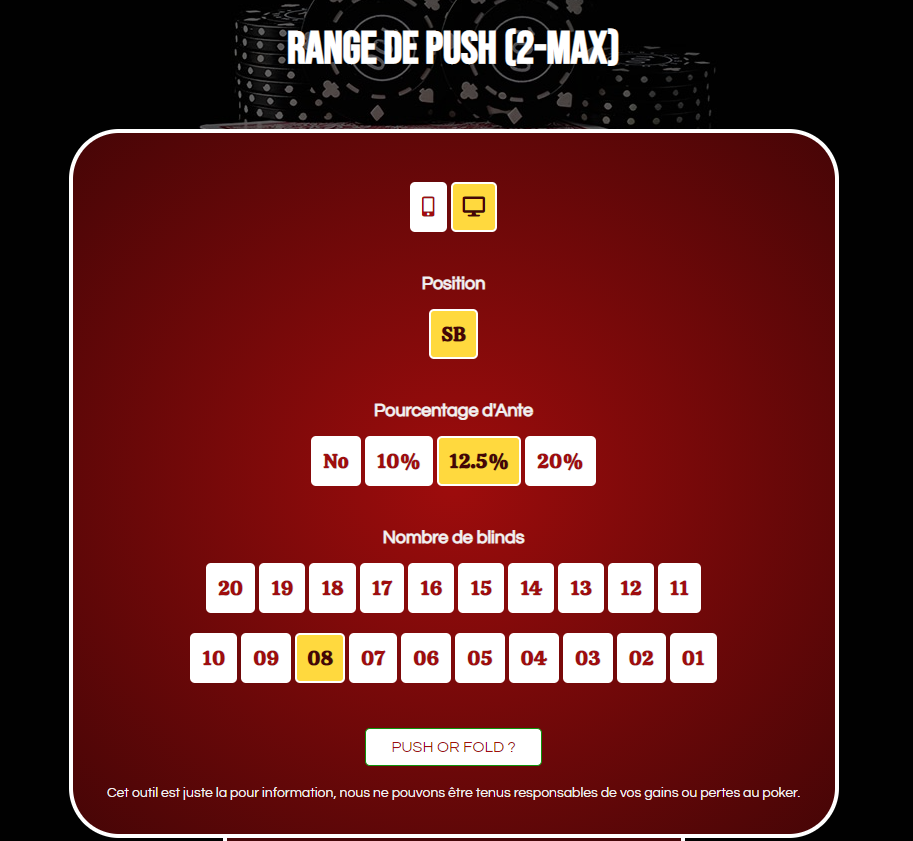 2-max push range calculator